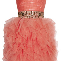 Opulence England Embellished chiffon dress – 0% at THE OUTNET.COM