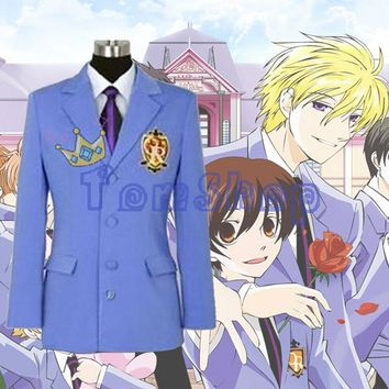 Anime Ouran High School Host Club Blazer Jacket Unisex Cosplay Coat Halloween Costumes Custom-made Any Sizes Free Shipping