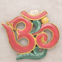 Carved Om Wall Hanging - Small
