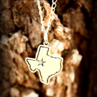 Adorable 'I left my heart in' Texas Charm Necklace