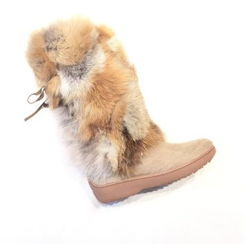 Pajar Canada 'KIM' Red Fox/Pony Fur Boots
