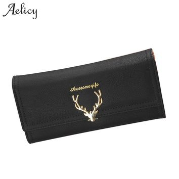 Aelicy High Quality Wallet Women purse Capacity Fashion Long Wallet Ladies Faux Suede Clutch Women Coin Purses Female Carteras