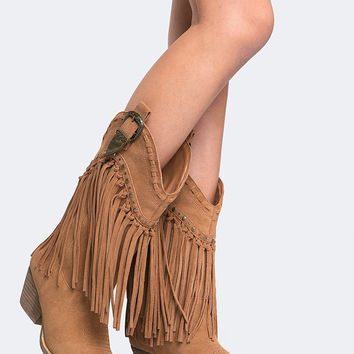 Fringe Knee High Boot