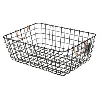 Threshold™ Antique Pewter Decorative Basket - Black