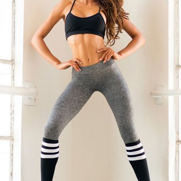 Sock Leggings - Gray/Black
