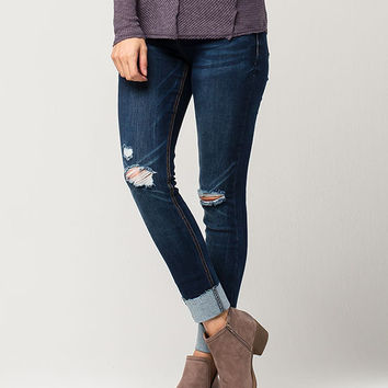 ALMOST FAMOUS PREMIUM High Cuff Womens Skinny Jeans   Skinny