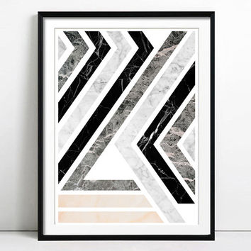 Geometric Art Abstract art Minimalist Poster Abstract Painting Scandinavian design Nordic style Home decor Modern art Marble Wall Art