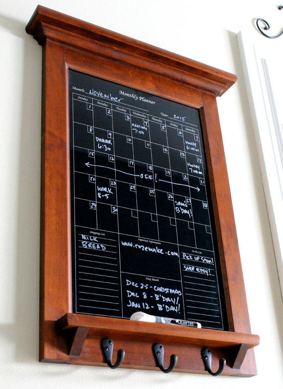 Wall Decor White Dry Erase Calendar From Rozemake On Etsy Epic - Black dry erase calendar