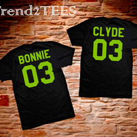 T-shirts Bonnie and Clyde Black