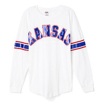University of Kansas Limited Edition Varsity Crew - PINK - Victoria's Secret
