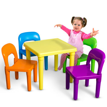 Kids Table And Chairs Play Set For Toddler Child Toy Activity Furniture Indoor Or Outdoor