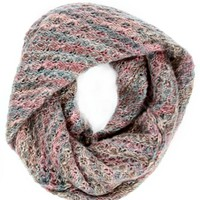 Multi-Color Marbled Infinity Scarf