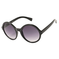 Lulu Black Round Sunglasses