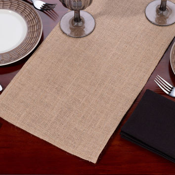 Burlap Table Runner-Blank