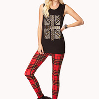 Studded Union Jack Muscle Tee