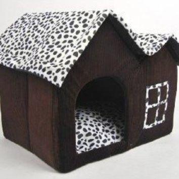 Luxury High-end Double Pet House/brown Dog Room Cat Bed 55 X 40 X 42 Cm