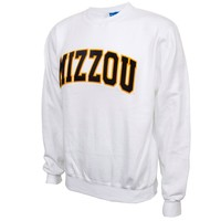 Mizzou White Crew Neck Sweatshirt