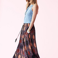 Hexprint Maxi Skirt