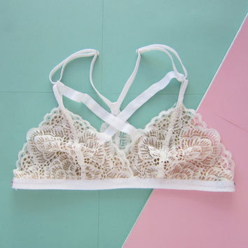 Strappy White Lace Racerback