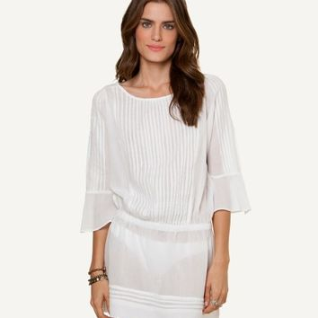 SOFIA SOLID WHITE DARIA DRESS | V i X Paula Hermanny