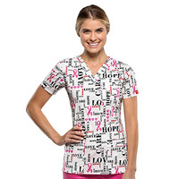 Gen Flex by Dickies Women's Youtility V-Neck Print Scrub Top