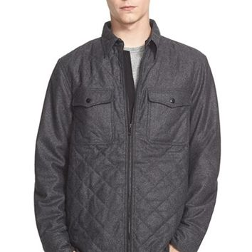 Men's rag & bone 'Grant' Quilted Wool Blend Shirt Jacket,