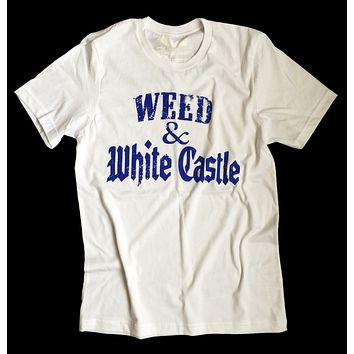 Weed - Stoner T-shirt - Weed & White Castle - Unisex Tee by American Anarchy Brand