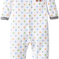 BON BEBE Baby Boys' Monkey and Stars Footed Snap Front Coverall