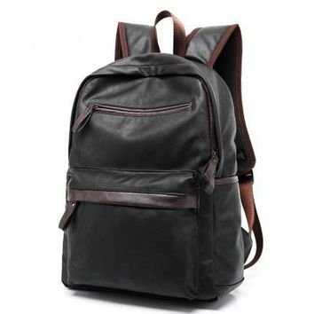 Backpack for Men PU Leather Travel Backpacks  at Backpacks Weekend Bag Travel Bags Bagpack Mochila B009