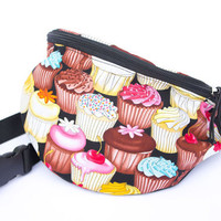 Cupcake fabric Fanny Pack - Hip Bag