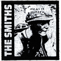 Smiths Meat Is Murder Cloth Patch Black