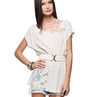 Floral Lace Woven Tunic - Tops - 2074786470 - Forever21