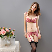 Hot New Sexy Lace Lingerie Bra Thongs Lenceria Suspender Garters Stockings Stripper Clothes Sex Products