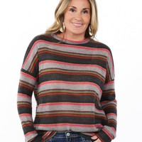 So Soft Striped Holiday Sweater