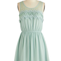 ModCloth Mid-length Sleeveless A-line Peach Julep Dress in Mint