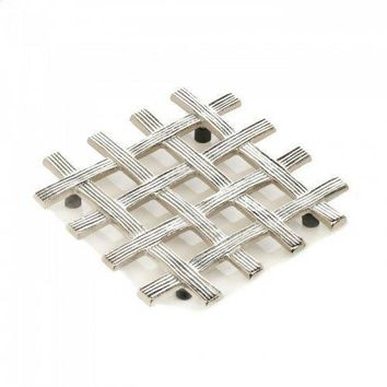 Woven Design Trivet (pack of 1 EA)