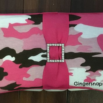 Pink Camo Travel Baby Wipes Case