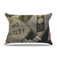 """Heidi Jennings """"City Outing"""" Urban Signs Pillow Case"""