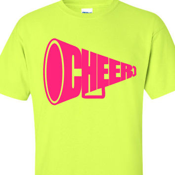 Cheer Shirt, Megaphone Cheerleader Shirt, School Spirit Shirt, Pep Rally