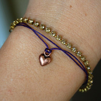 early bright ? Heart on the Line Wish Thread Bracelet