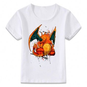 Kids Clothes T Shirt  Charizard Gaming Gamer Children T-shirt for Boys and Girls Toddler Shirts TeeKawaii Pokemon go  AT_89_9