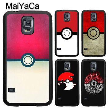 MaiYaCa Anime Pokeball s For Samsung S7 S4 S5 S6 edge S9 S8 Plus Note 8 Note 4 Note 5 Phone Case Coque ProtectorKawaii Pokemon go  AT_89_9