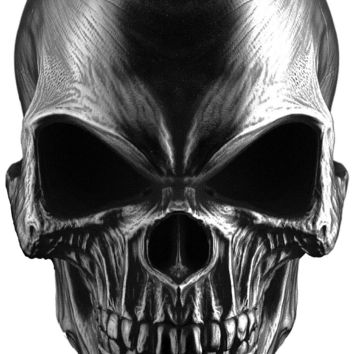 Heavy metal death skull front view - Airbrush stencil