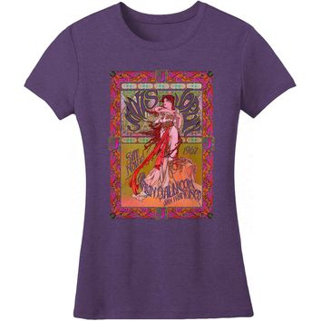 Janis Joplin  Avalon Ballroom Junior Top Heather