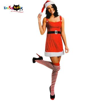 f5fb3ec15c43e1 Christmas Costume Miss Santa Cosplay Christmas Dress Women Sexy