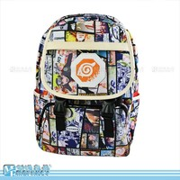 Anime Naruto Cartoo fashion Leisure man woman Preppy style schoolbag canvas bag High capacity travel Naruto Backpack