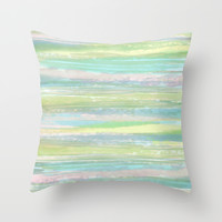 Faraway Shores Throw Pillow by ALLY COXON