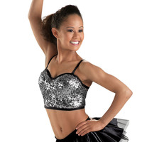 Adult Camisole Sequin Cropped Bustier Top - Balera