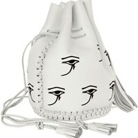 Wendy Nichol White Eye of Horus Bullet Bag