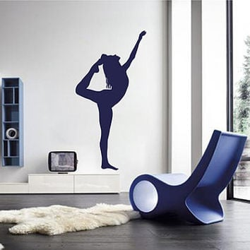 kik2229 Wall Decal Sticker Girl gymnast sports hall bedroom